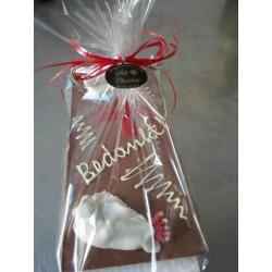 chocolade tablet met tekst en hobby of beroep
