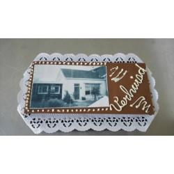 chocolade tablet met foto en tekst