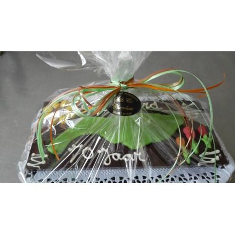 chocolade tablet met Flakkee