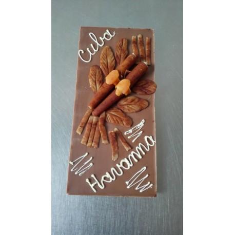 chocolade tablet met tekstl en sigaren