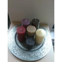 blad met kaarsen