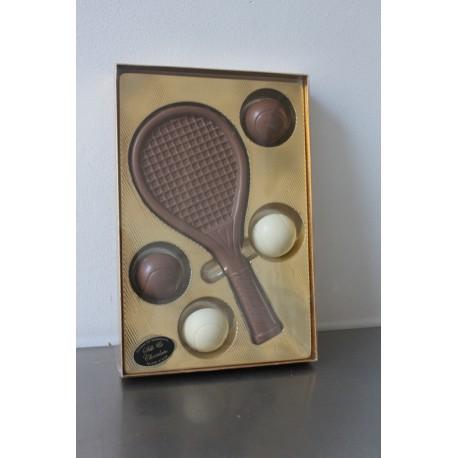 tennisracket met ballen