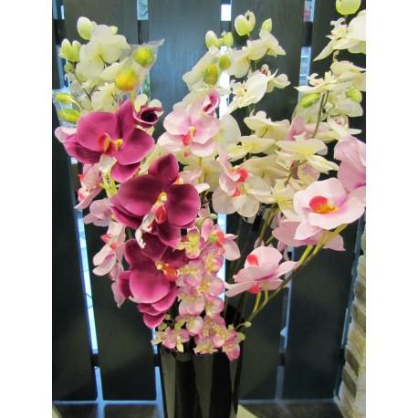 3 rose orchideeën