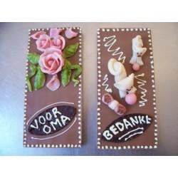 tablet chocolade met tekst