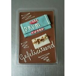 chocolade tablet met tekst